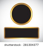 gold frame template vector... | Shutterstock .eps vector #281304377