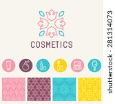 vector cosmetics logo design... | Shutterstock .eps vector #281314073