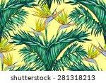 beautiful fashionable vector... | Shutterstock .eps vector #281318213