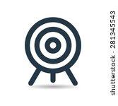 target aim icon on white...