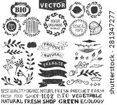 vector nature bio  logo... | Shutterstock .eps vector #281347277