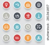 travel contour icons with color ... | Shutterstock .eps vector #281361857