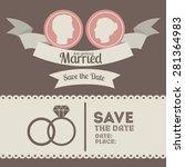 wedding design over grey... | Shutterstock .eps vector #281364983