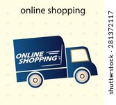 online shopping concept ... | Shutterstock .eps vector #281372117