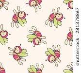 bee cartoon   cartoon seamless... | Shutterstock .eps vector #281378867