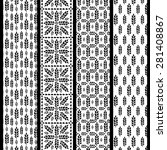 set of seamless patterns with... | Shutterstock .eps vector #281408867