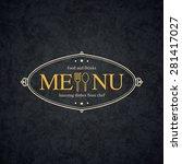 restaurant menu design. vector... | Shutterstock .eps vector #281417027