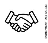 business handshake   contract... | Shutterstock .eps vector #281423633