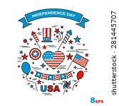a set of design elements for... | Shutterstock .eps vector #281445707