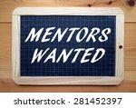 Постер, плакат: The phrase Mentors Wanted