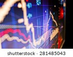 close up image of stock market... | Shutterstock . vector #281485043