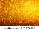 Warm Bright Golden Lights Boke...
