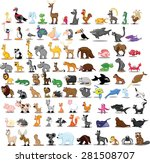 set of cute cartoon animals | Shutterstock .eps vector #281508707
