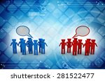 two group people talking | Shutterstock . vector #281522477