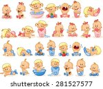 vector illustration of baby... | Shutterstock .eps vector #281527577