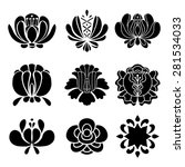 set hand drawn black... | Shutterstock . vector #281534033