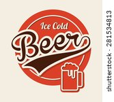 Cold Beer Design  Vector...