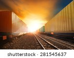 industry container trains... | Shutterstock . vector #281545637