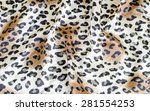 crumpled leopard texture... | Shutterstock . vector #281554253