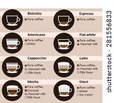 coffee icons set. menu with... | Shutterstock .eps vector #281556833