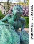 Small photo of HAMBURG, GERMANY - MAY 04. Triton sculpture of the Stuhlmannbrunnen in the Hamburg district Altona on May 04, 2015. The fountain, built 1900 is one of the famous landmarks in the borough of Altona.
