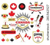 happy canada day design... | Shutterstock .eps vector #281562527
