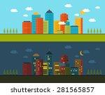 flat design modern vector... | Shutterstock .eps vector #281565857