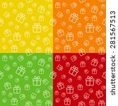 set of seamless patterns with... | Shutterstock .eps vector #281567513