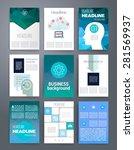 templates. design set of web ... | Shutterstock .eps vector #281569937