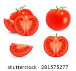 collages tomato isolated on... | Shutterstock . vector #281575277