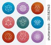 modern hipster linear geometric ... | Shutterstock .eps vector #281582963