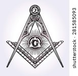 freemasonry emblem  masonic... | Shutterstock .eps vector #281585093