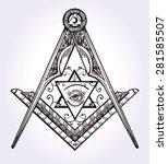 freemasonry emblem  masonic...   Shutterstock .eps vector #281585507