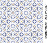 color ornament seamless pattern.... | Shutterstock .eps vector #281590307