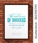inspirational quote vector... | Shutterstock .eps vector #281590793