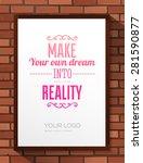 inspirational quote vector... | Shutterstock .eps vector #281590877