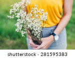 Woman Hands Holding A Flower I...