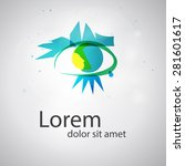 eye vision vector logo design... | Shutterstock .eps vector #281601617