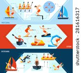 water sports horizontal banners ... | Shutterstock .eps vector #281616317