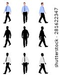 man walking silhouettes and... | Shutterstock .eps vector #281622347