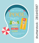 Pool Party Invitation  With To...