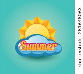 vector summer label. summer... | Shutterstock .eps vector #281648063