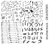 doodle arrow icons set with... | Shutterstock .eps vector #281650583