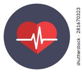 heartbeat icon concept. form of ... | Shutterstock .eps vector #281670323
