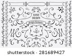 hand drawn design elements | Shutterstock .eps vector #281689427