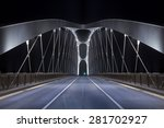 Road On Modern Frame Bridge...