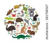 animals australia. echidna... | Shutterstock .eps vector #281708567