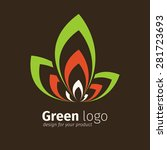 eco green logo template | Shutterstock .eps vector #281723693