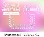 sweet advertising for your... | Shutterstock .eps vector #281723717
