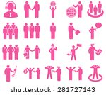 management and people... | Shutterstock .eps vector #281727143